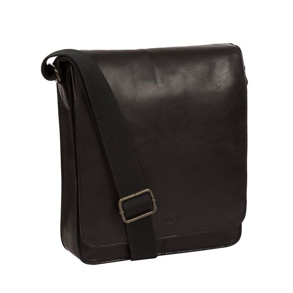 bag despatch leather Vintage London 'Bowen' black Conkca PqTUwZYABT