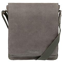 Conkca London - Vintage grey 'Bowen' leather despatch bag