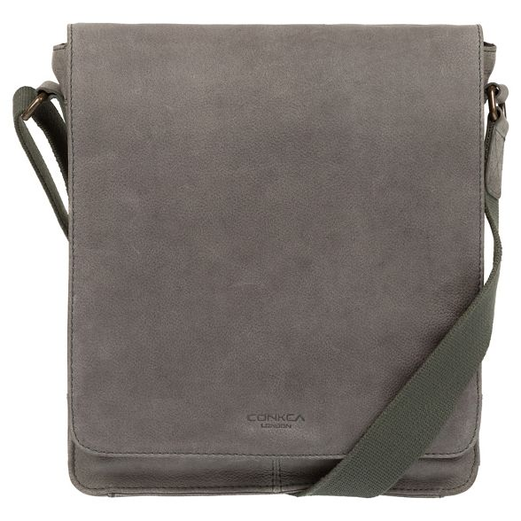 leather grey Conkca despatch Vintage London bag 'Bowen' wPxxIZO
