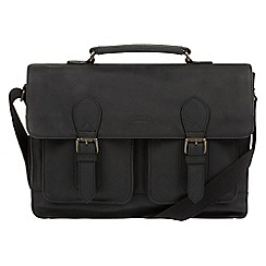 Conkca London - Vintage black 'Pinter' leather messenger bag