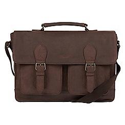 Conkca London - Vintage brown 'Pinter' leather messenger bag