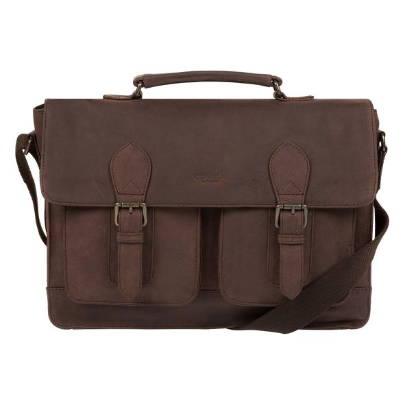 leather Conkca messenger 'Pinter' brown London bag Vintage ZxBqnwF17