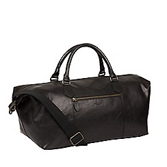 Conkca London - Vintage black 'Storey' leather holdall