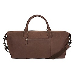 Conkca London - Vintage brown 'Storey' leather holdall