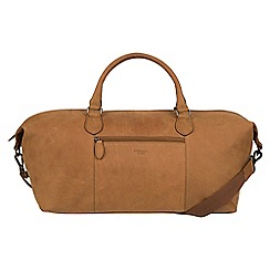 Conkca London - Vintage chestnut 'Storey' leather holdall