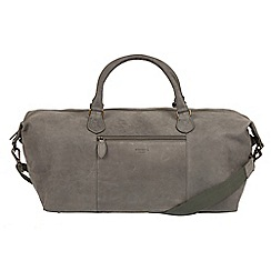 Conkca London - Vintage grey 'Storey' leather holdall