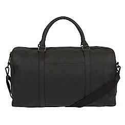 Conkca London - Vintage black 'Orton' leather holdall