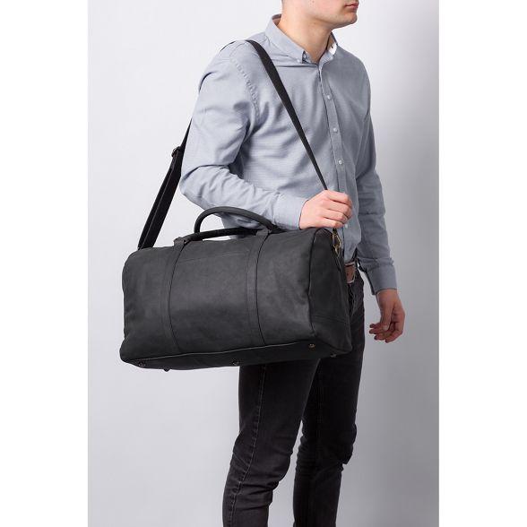 Conkca London 'Orton' holdall Vintage leather black n8nwT