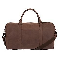 Conkca London - Vintage brown 'Orton' leather holdall