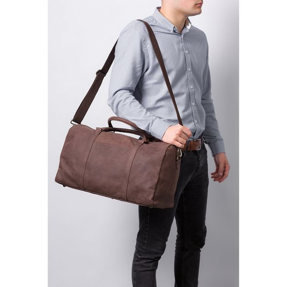London Vintage brown leather holdall 'Orton' Conkca f4qYUwY