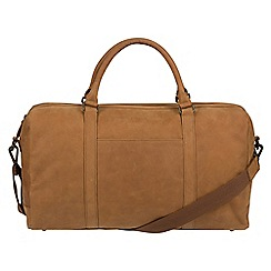Conkca London - Vintage chestnut 'Orton' leather holdall