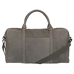 Conkca London - Vintage grey 'Orton' leather holdall