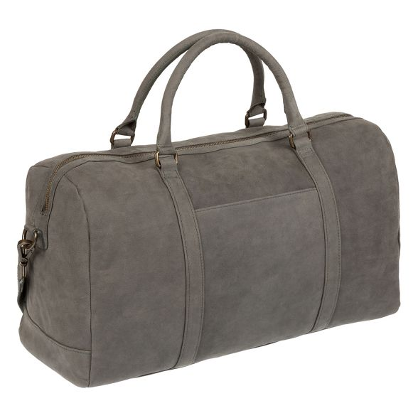 Conkca Vintage London 'Orton' leather grey holdall 8r8d4q5