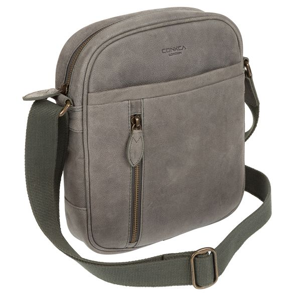 London grey Vintage despatch 'Lowe' Conkca bag AqZ1PPw
