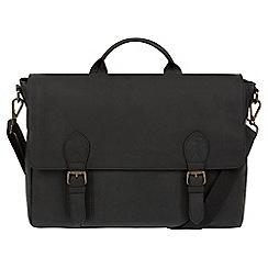Conkca London - Vintage black 'Edgar' leather messenger bag