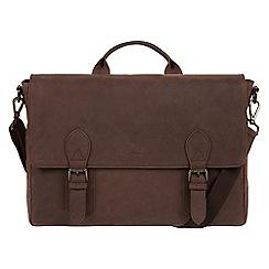Conkca London - Vintage brown 'Edgar' leather messenger bag
