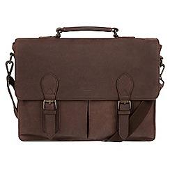 Conkca London - Vintage brown 'Bennet' leather messenger bag