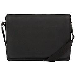 Conkca London - Vintage black 'Bolt' leather messenger bag