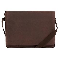 Conkca London - Vintage brown 'Bolt' leather messenger bag