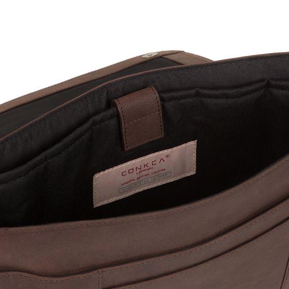 Vintage brown 'Bolt' bag messenger leather London Conkca 5Bqx8Hw