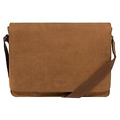 Conkca London - Vintage chestnut 'Bolt' leather messenger bag