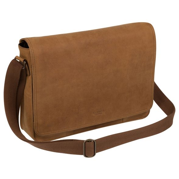 Conkca bag messenger leather Vintage chestnut 'Bolt' London YgrawY