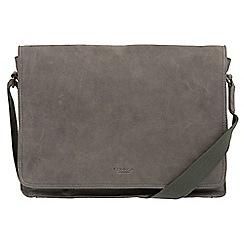 Conkca London - Vintage grey 'Bolt' leather messenger bag