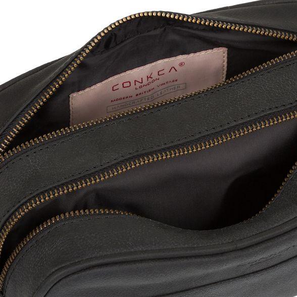 Conkca black Vintage London washbag 'Rudkin' fTrqTOYw