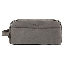 Conkca London - Vintage grey 'Rudkin' washbag