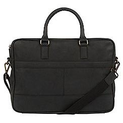 Conkca London - Vintage black 'Grafton' leather messenger bag