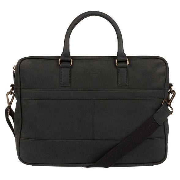 Conkca black Vintage leather bag 'Grafton' messenger London rEgaqwr