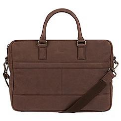 Conkca London - Vintage brown 'Grafton' leather messenger bag
