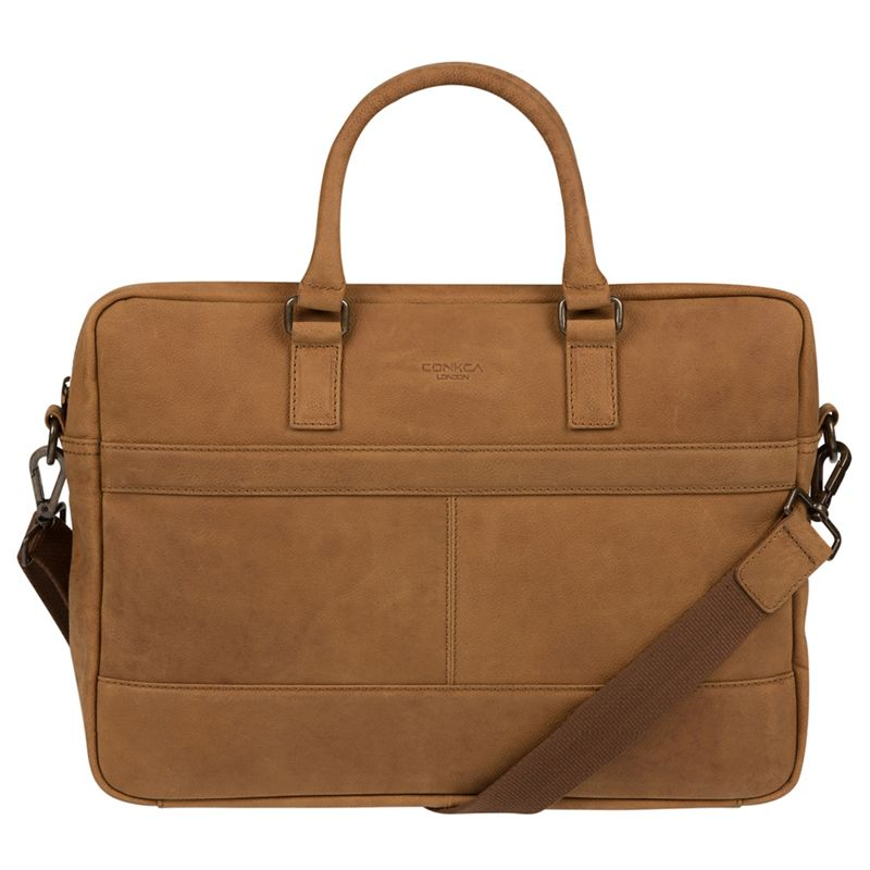 Conkca London - Vintage Chestnut Grafton Leather Messenger Bag