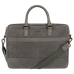 Conkca London - Vintage grey 'Grafton' leather messenger bag