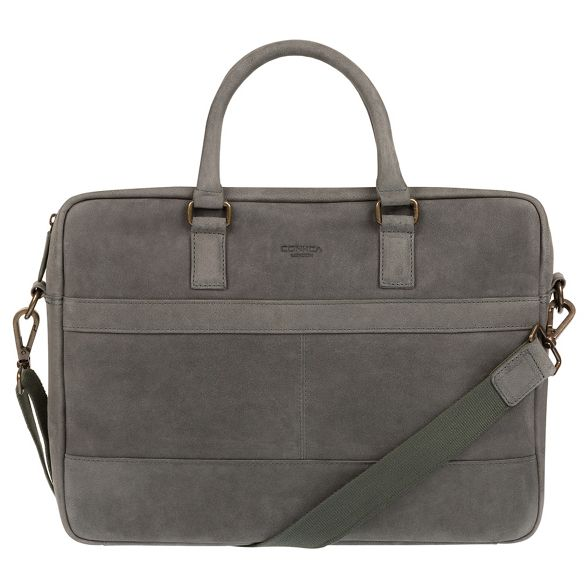Conkca grey messenger 'Grafton' London bag leather Vintage 4H4qvwf