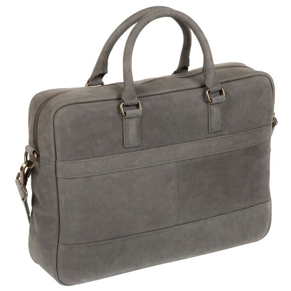 Conkca Vintage London 'Grafton' leather bag grey messenger 4SqgOA