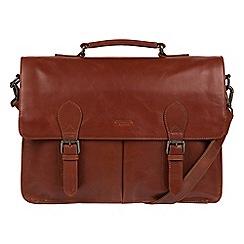 Conkca London - Conker brown 'Bennet' buffalo leather messenger bag