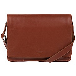 Conkca London - Conker brown 'Bolt' leather messenger bag