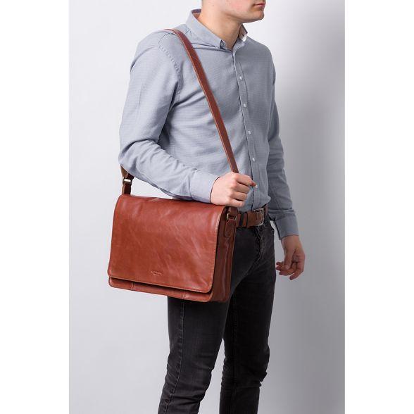 Conker bag London leather Conkca messenger brown 'Bolt' Pz656qw