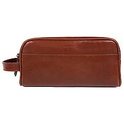Conkca London - Conker brown 'Rudkin' washbag