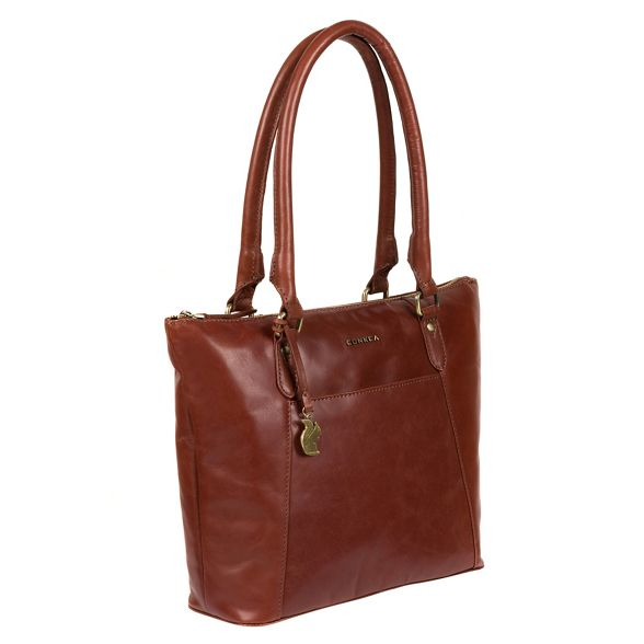 tote leather bag London Cognac 'Eva' handcrafted Conkca wx1I4BqfXw