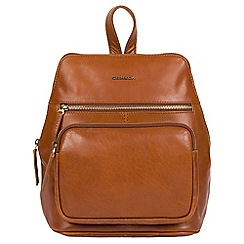 Conkca London - Tan 'Jackie' handcrafted leather backpack