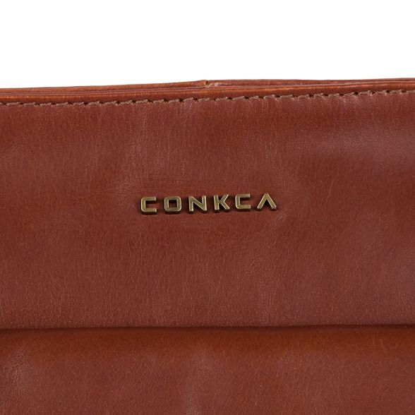 cross handcrafted body Cognac leather Conkca 'Mimosa' London bag 7wWqXcYt