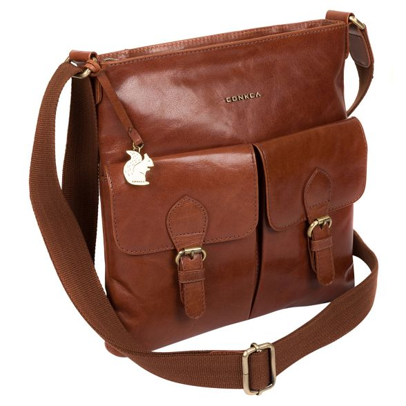 cross London 'Raffaela' Conkca body Cognac bag handcrafted leather xXqnBzp
