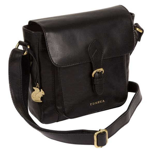 Conkca Black bag leather handcrafted London 'Mojito' cross body arqwaHn1