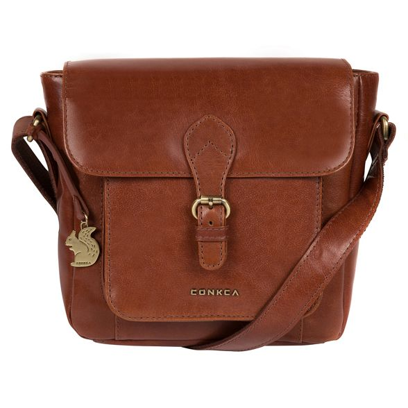 Cognac 'Mojito' handcrafted bag body leather cross Conkca London OwatxqEq5