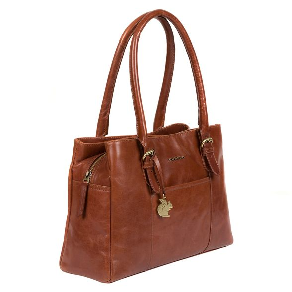'Carmela' London leather Conkca handcrafted handbag Cognac qAUUOxwE