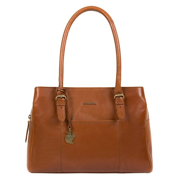 'Carmela' Tan Conkca handbag London handcrafted leather qwwEH0C