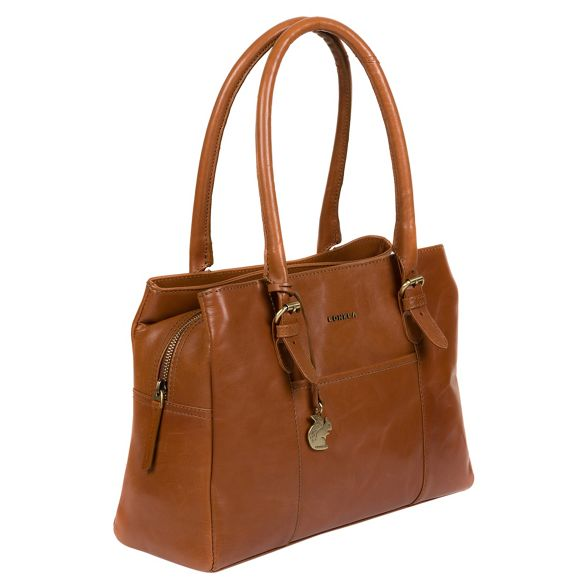 handcrafted Tan London leather Conkca handbag 'Carmela' qBnT8ptw