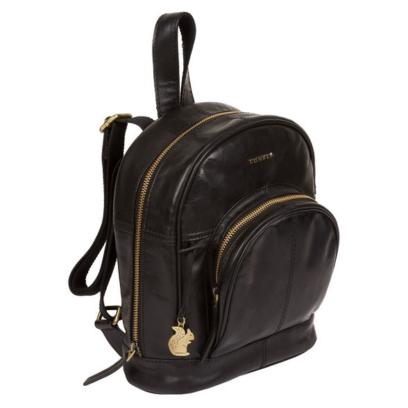 backpack 'Kir' fine London Black leather Conkca xS6AZ7w4q